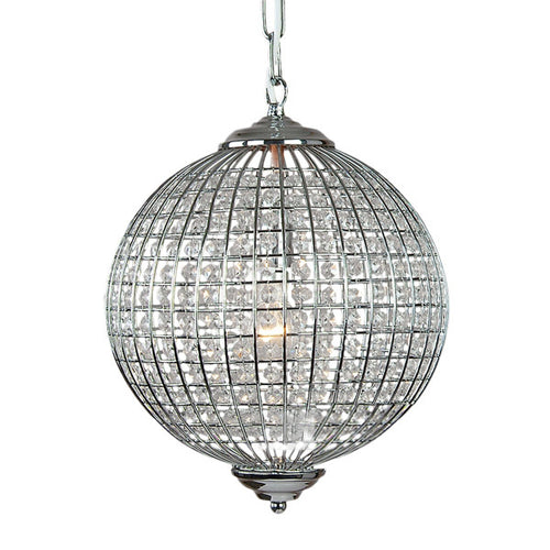 Chrome Globe Chandelier