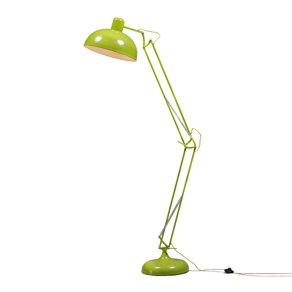 Extra Large Angled Floor Lamp - Lime Green