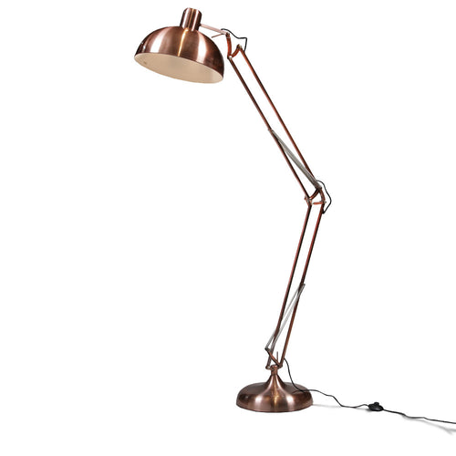 Extra Large Angled Floor Lamp - Copper