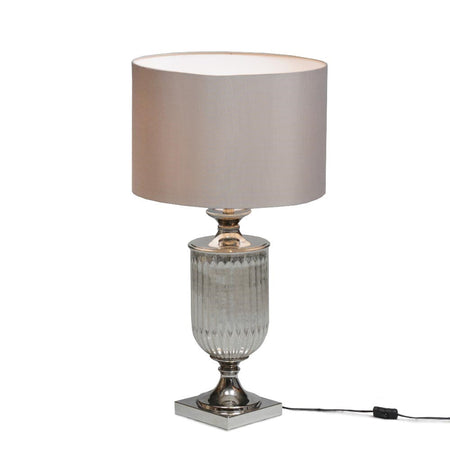 Tall Antique Bronze Lamp 33 cm