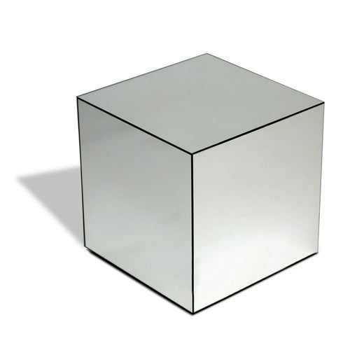 Black/Clear Venetian Glass Cube