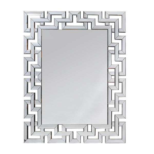 Large Rectangular Deco Venetian Mirror