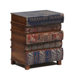 Antiqued Children's Books Bedside Table