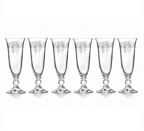 Etched Piano Champagne Flutes