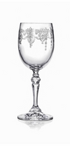 Etched White Wine Glasses - Round