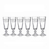 Etched French Style Champagne Flutes