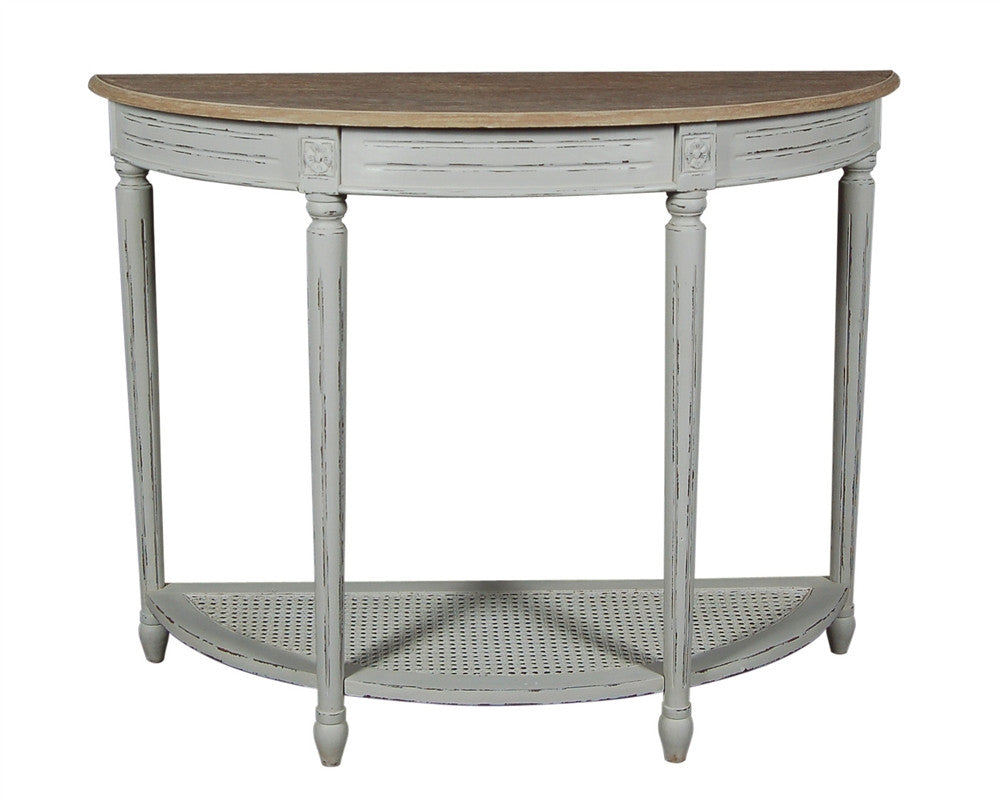 half moon console table. Half Moon Console Table E
