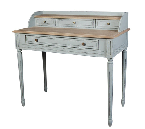 French Grey Elm Writing Desk