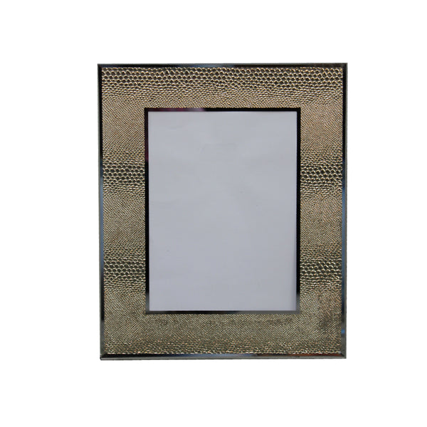 Gold Snake Skin Mirrored Picture Frame 5 x 7""