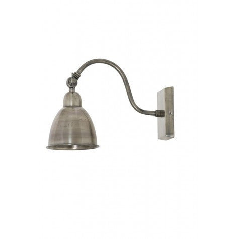 Antique Silver Metal Wall Lamp - Plug In Wall Light