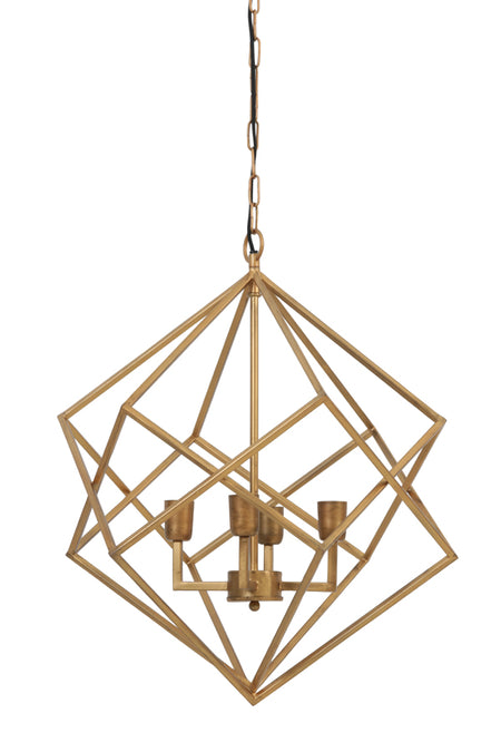 Gold Metal Open Lantern Light