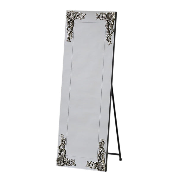 "Large Rectangular ""Frameless"" Cheval Freestanding Mirror"