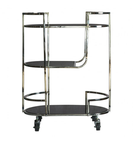 Gilt Metal Shelving 164 cm