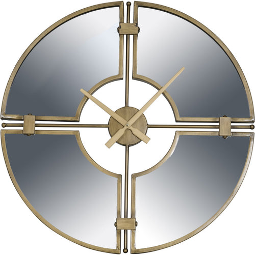 Mirrored Gilt Metal Clock
