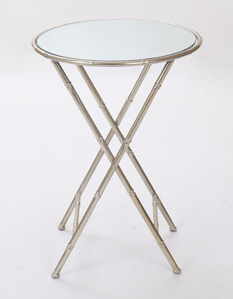 Nickel Bamboo Side Table