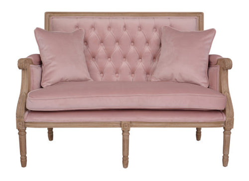 Small Soft Pink Boutique Sofa 125cm