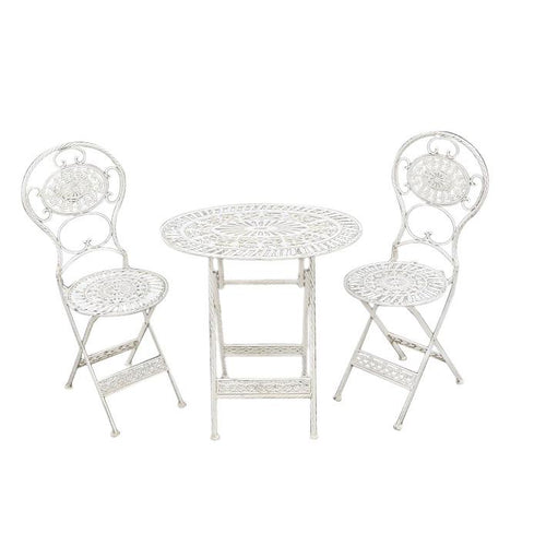 Oval Garden Table & Chairs - Outdoor Folding Patio Set