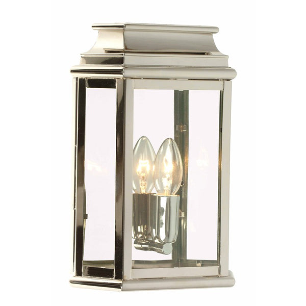 Polished Nickel Outdoor Wall Lantern