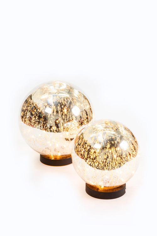 Large Mercury Glass Globe Light