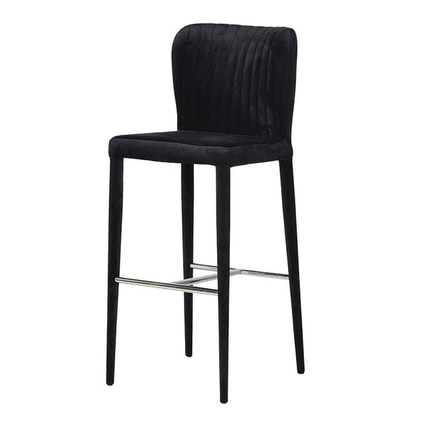 Chrome & Velvet Bar Stool