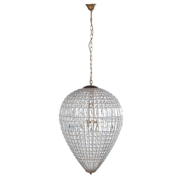 Inverted Teardrop Crystal Chandelier