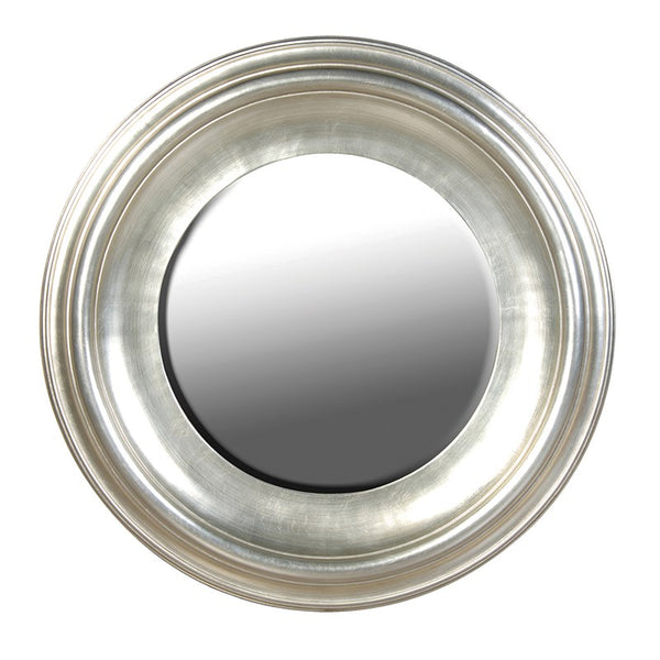 Silver Round Wall Mirror