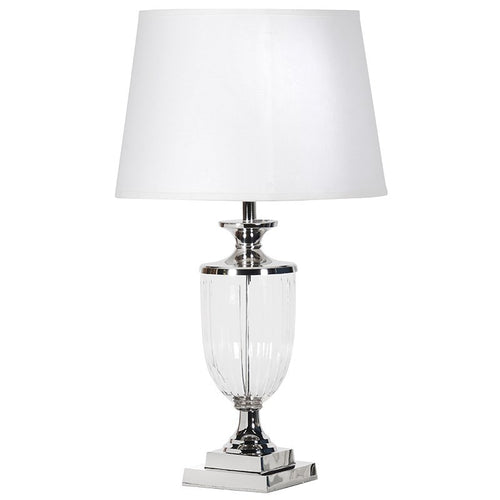 Nickel/Glass Urn Lamp