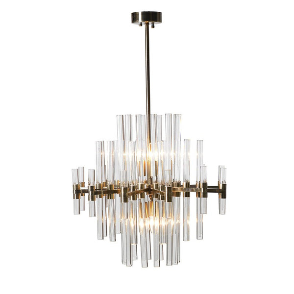 Glass Rods Chandelier