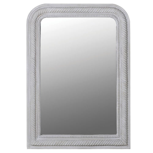 Grey Beaded/Rope Edged Mirror