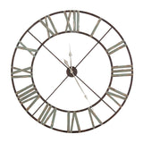 Large Aged Wrought Iron Clock 48''