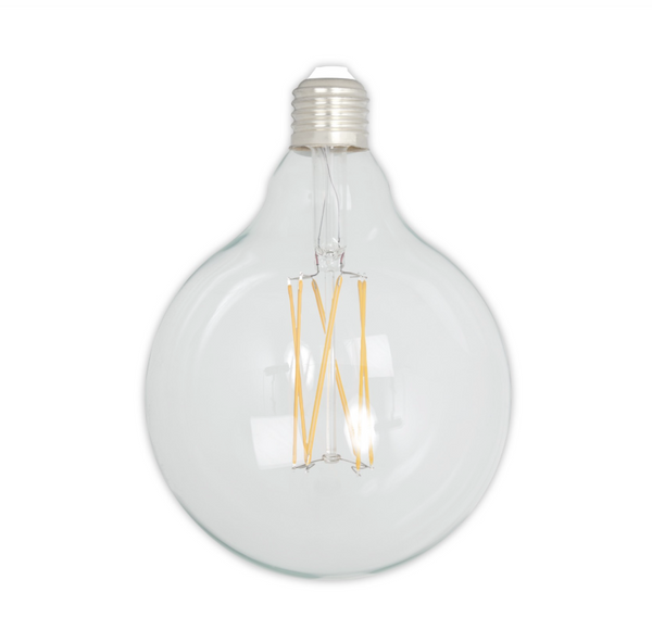 Dimmable LED Globe Zigzag Filament Bulb - E27 (Clear) 4w