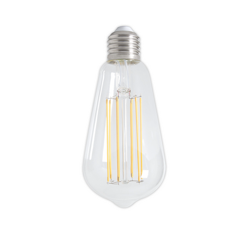 Dimmable LED Pear Squirrel Filament Bulb - E27 (Clear) 4w