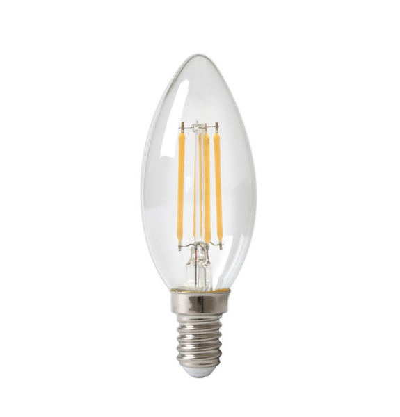 Dimmable LED Small Edison Filament Candle Bulb - E14 4w (25w equivalent)