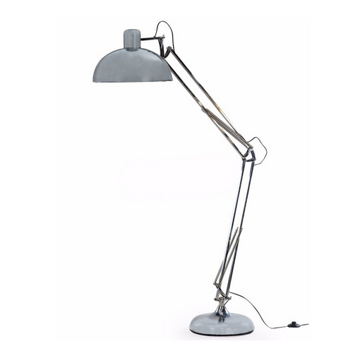 Extra Large Angled Floor Lamp - Chrome