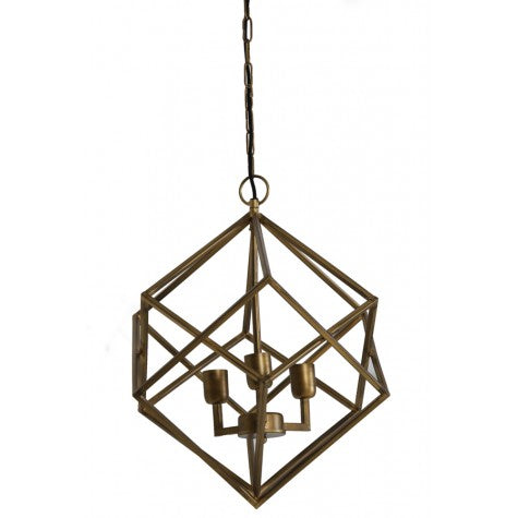 Geometric Metal Hanging Lamp