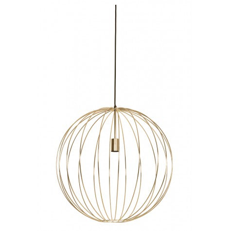 Gold Metal Ball Light 40cm
