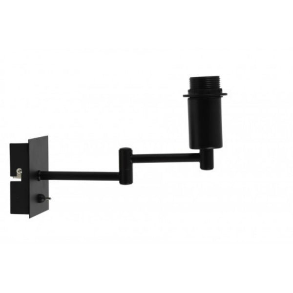 Swing Arm Matted Black Wall Lamp