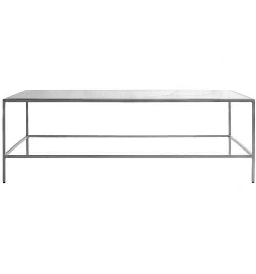 Brushed Silver Slender Coffee Table 120 x 65 cm