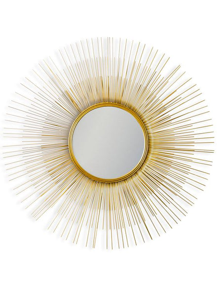 Gold Sunburst Round Mirror