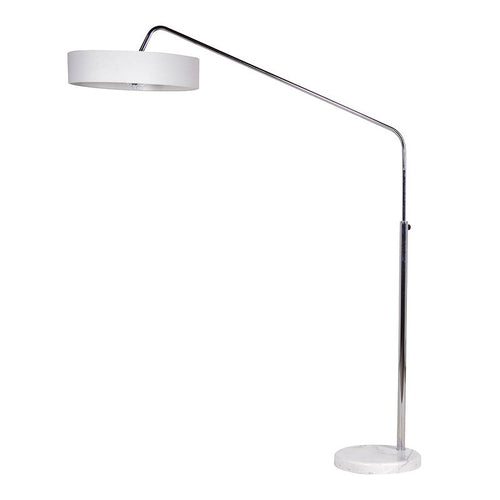 Chrome Black/White Shade Floor Lamp