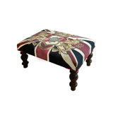 Union Jack Crested Footstool