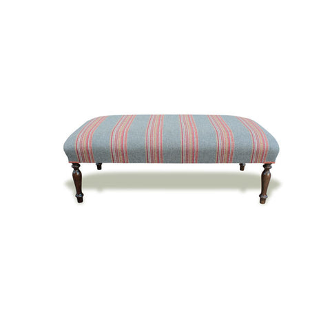 Washed Linen Footstool