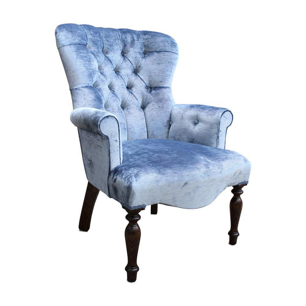 Heavenly Velvet Lake Tub Chair