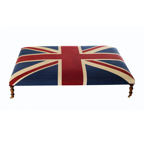 Union Jack Coffee Table Stool