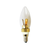 LED  Small Edison Gold/Silver Candle Bulb - E14 4w