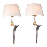 Pair of Nickel Wall Lamps