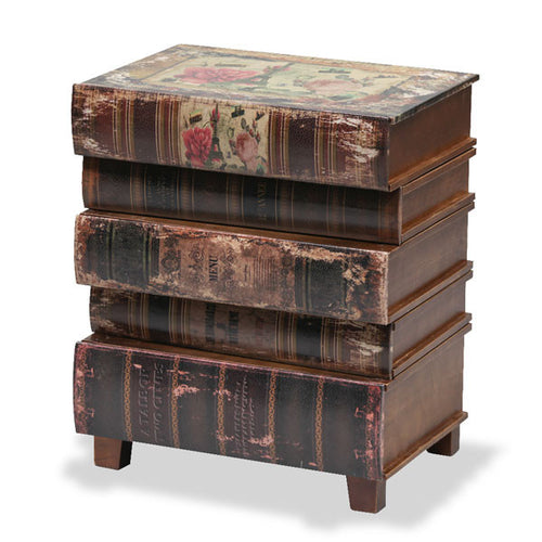 Antique Stacked Books Bedside