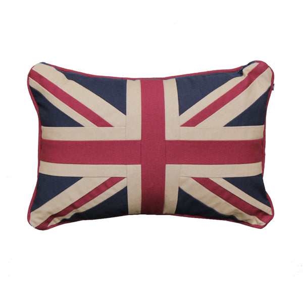 Small Union Jack Cushion - Plain 30 x 46 cm