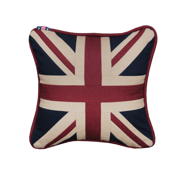 Small Square Union Jack Cushion - Plain 30 x 30 cm