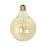Dimmable LED Globe Zigzag Filament Bulb - E27 (Tinted) 4w